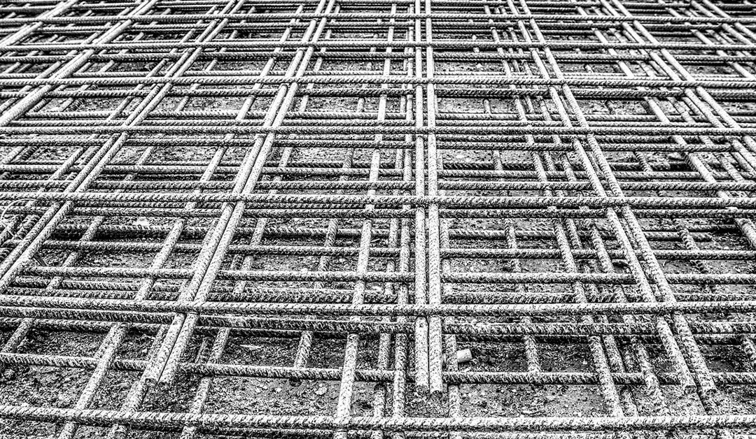 iron railings, grid, mat, steel mesh, steel, steel mat, rusty, site, build, concrete, foundation, stability, hdr, high dynamic range, contrast, metal