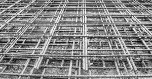 iron railings, grid, mat, steel mesh, steel, steel mat, rusty, site, build, concrete, foundation, stability, hdr, high dynamic range, contrast, metal