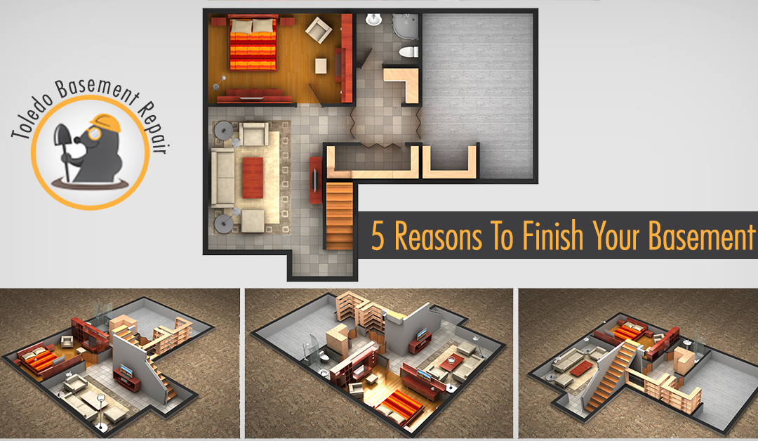 Top 5 Reasons To Finish Your Basement